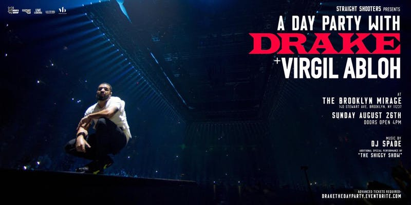 The Day Party with Drake and Virgil Abloh at The Brooklyn Mirage
