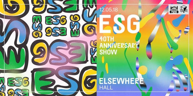 ESG at Elsewhere (Hall)