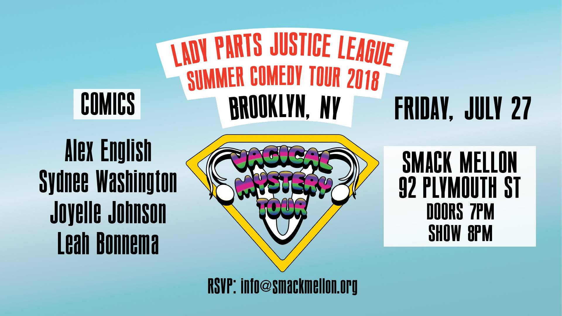 The Lady Parts Justice League Stand-Up Comedy Night
