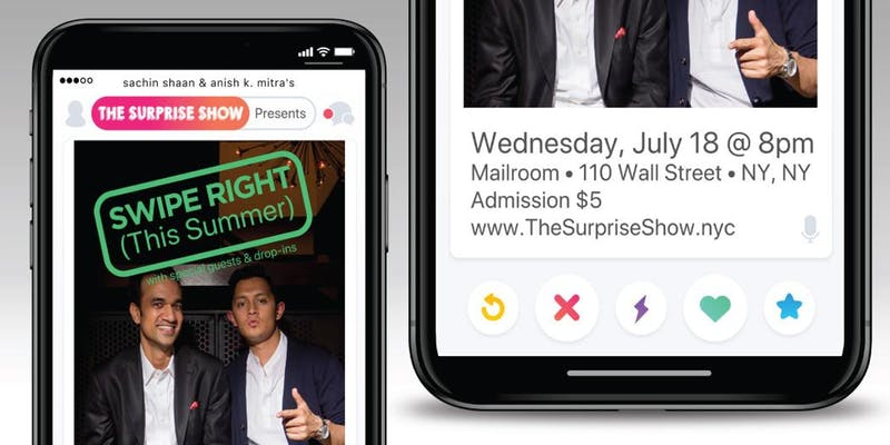 Swipe Right (This Summer) with the Surprise Show: A Comedy Event