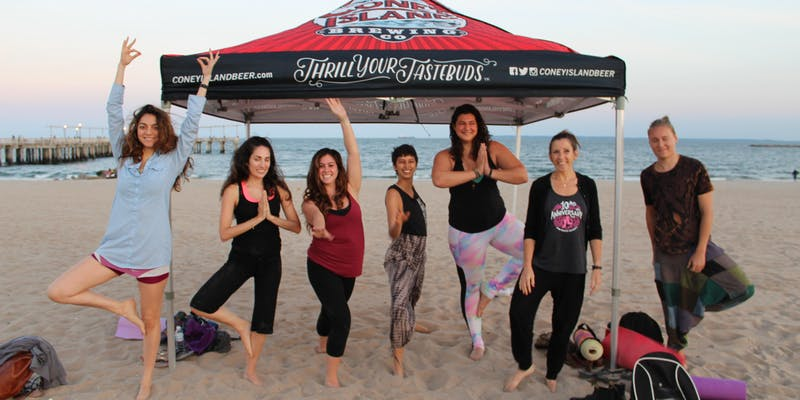 Mindful Pints: Sunset Yoga on the Beach