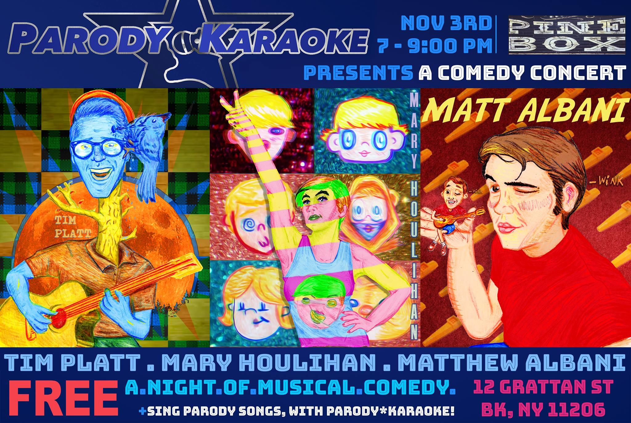 Parody*Karaoke Presents A Comedy Concert