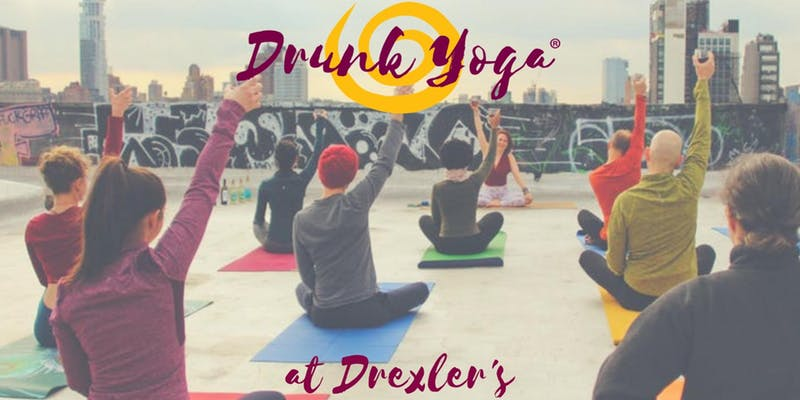 Drunk Yoga at Drexler's Bar