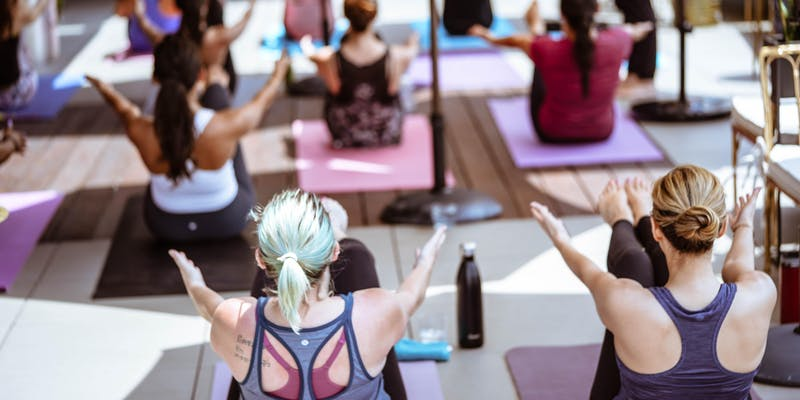 Rooftop Yoga Class with Glass of Wine